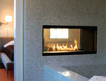 contemporary double-sided fireplace (gas closed hearth)   SPARK modern fires