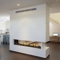 contemporary double-sided fireplace (gas closed hearth) CLEAR 200 Ortal USA