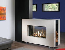 contemporary double-sided fireplace (gas closed hearth) FAIRO 105 TUNNEL Kal-fire