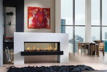 contemporary double-sided fireplace (gas closed hearth) FAIRO 140 TUNNEL Kal-fire