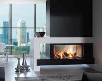 contemporary double-sided fireplace (wood-burning closed hearth) HEAT PURE 105 TUNNEL Kal-fire