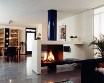 contemporary double-sided fireplace (wood-burning open hearth) CV 003 BLOCH DESIGN