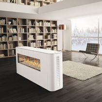 contemporary double-sided fireplace (gas closed hearth) Mobile Camino a Gas MILANO 80-130 ITALKERO