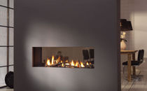 contemporary double-sided fireplace (gas closed hearth) TRIMLINE 120 TUNNEL ThermoCet BV
