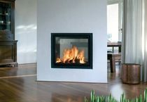 contemporary double-sided fireplace (wood-burning closed hearth) KAL-FIRE HEAT 71,5 TUNNEL Kal-fire