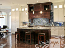 contemporary eco-friendly kitchen in certified wood (FSC Eco-label) FAIRFAX VANILLA WITH CHARLESTON CLOVE AYA kitchens