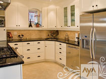contemporary eco-friendly kitchen in certified wood (FSC Eco-label) NEWPORT MUSHROOM AYA kitchens