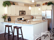 contemporary eco-friendly kitchen in certified wood (FSC Eco-label) FAIRFAX VANILLAFAIRFAX VANILLA  AYA kitchens