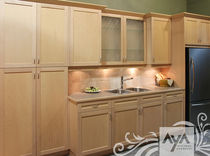 contemporary eco-friendly kitchen in certified wood (FSC Eco-label) PLYMOUTH NATURAL MAPLE AYA kitchens