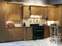 contemporary eco-friendly kitchen in certified wood (FSC Eco-label) MISSION HILL BLACKENED UMBER MAPLE AYA kitchens