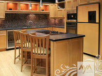 contemporary eco-friendly kitchen in certified wood (FSC Eco-label) RAVENNA HONEY MAPLE AYA kitchens