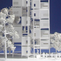 contemporary ecological modular prefab building for housing development TREE VILLAGE micro compact home