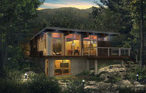 contemporary ecological prefab house NATURA Industries Bonneville