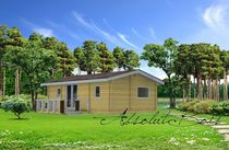 contemporary ecological wooden prefab house MOBILE-HOMES 34 ABSOLUT-BOIS
