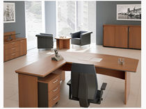 contemporary executive corner office desk OPUS MSL Interiors Ltd
