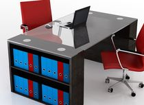 contemporary executive glass office desk V Swanky Design - Premium Contemporary Furniture