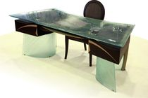 contemporary executive glass office desk PRESIDENCE MIROITERIE PETITJEAN