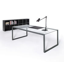 contemporary executive glass office desk with metal structure K_system GRUPO PERMASA