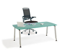contemporary executive glass office desk with metal structure F.I.T. 4 WORK ROHDE & GRAHL