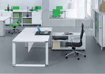 contemporary executive lacquered office desk 500 Jesper Office