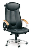 contemporary executive leather armchair (with headrest) MILLENIUM TOP by Giovanni Baccolini Ares Line
