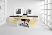contemporary executive office desk STRIA by Barbara Zieve Halcon