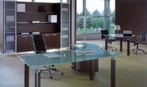 contemporary executive wooden and glass office desk GIOVE Arcadia