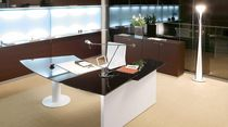 contemporary executive wooden and glass office desk DEDALUS by Studio Perin & Topan Associati  archiutti