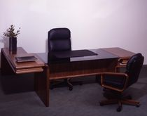 contemporary executive wooden and glass office desk DYRLUND SUPREME dyrlund
