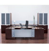 contemporary executive wooden and glass office desk VESTRADA krug