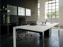 contemporary executive wooden office desk with metal structure DIAMOND Sintetica Industries