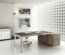 contemporary executive wooden office desk with metal structure OVER: 02 Colombini