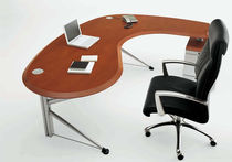 contemporary executive wooden office desk with metal structure CROSS by Stefano Getzel FOSAM