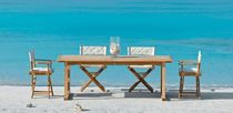 contemporary extending garden table (teak) MILTON Unopiu