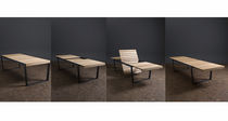 contemporary extending garden table (teak top) SPINNAKER by Gordon Guillaumier RODA