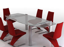 contemporary extending glass table ARIANA Swanky Design - Premium Contemporary Furniture