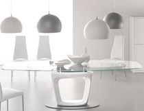 contemporary extending glass table ORBITAL by Pininfarina Calligaris Italian home design since 1923