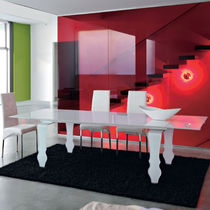 contemporary extending glass table TECNO unico italia