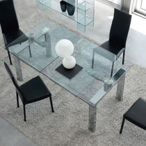 contemporary extending glass table MAX unico italia