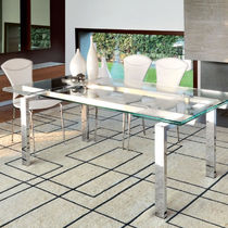 contemporary extending glass table LUX unico italia