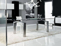 contemporary extending glass table DELTA unico italia