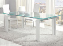 contemporary extending glass table STEP unico italia