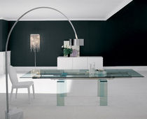 contemporary extending glass table ALFA by Paolo Cattelan cattelan italia