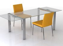 contemporary extending glass table ARUBA Swanky Design - Premium Contemporary Furniture