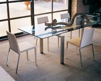 contemporary extending glass table MAGIC TM by Pedrali R&D PEDRALI