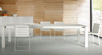 contemporary extending glass table BIANCO by Claudio Dondoli & Marco Pocci Ligne Roset France