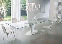 contemporary extending glass table SPIN Ciacci Kreaty