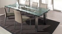 contemporary extending glass table EXTENS Ghekiere Industries