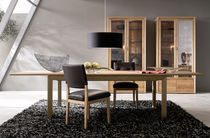 contemporary extending solid wood table ET 800 hülsta