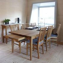 contemporary extending solid wood table ALVA G.A.D
